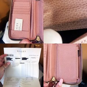 d5905625e95b64 Gucci Bags | Auth Swing Soft Pink Compact Zip Wallet | Poshmark